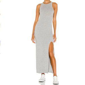 LNA Candi Ribbed Midi Dress In Grey sz S